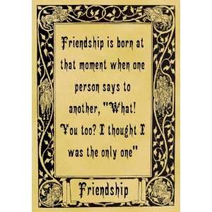 Parchment Poster Inspiration Love Friendship You Too