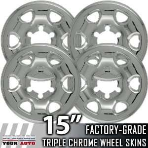 95 00 TOYOTA TACOMA 15 Chrome Wheel Skin Covers Automotive