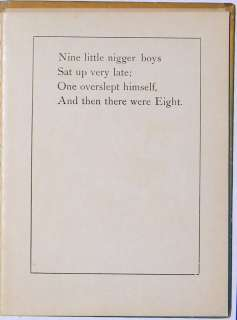 1899 Book TEN LITTLE NIGGERS Black Americana RARE African American