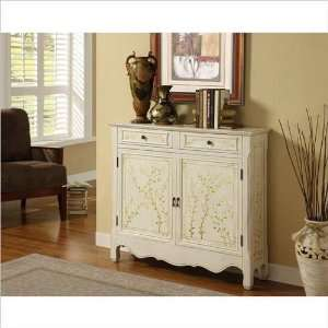 White Hand Painted 2 Door Console Home & Kitchen