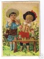 THE GREAT ATLANTIC & PACIFIC TEA CO. Two little Girls Playing Trade