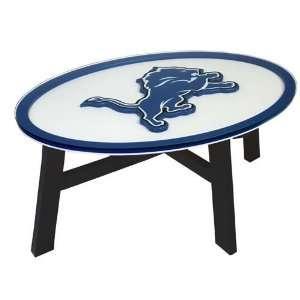 Detroit Lions Helmet Design Coffee Table