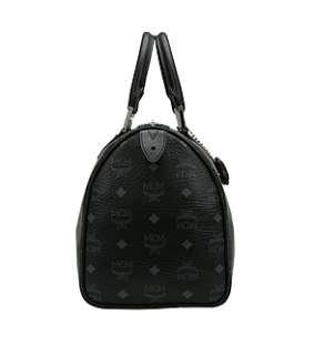 NWT MCM Boston Bag AIR Collection VISETOS Black