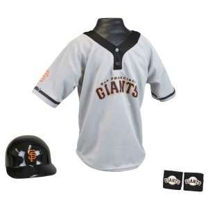 San Francisco Giants MLB Baseball Helmet And Jersey Set