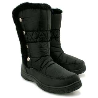 WINTER SNOW SKI YETI FUR MOON JOGGER LADIES FLAT BOOTS