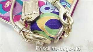 NWT COACH Poppy Pop C Signature Legacy Multicolor Case Wristlet