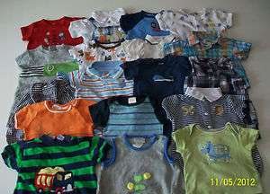 USED 21 PC. LOT OF NEWBORN BABY BOY CLOTHES 0 3 MONTHS EUC/LN