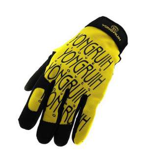 2012 Cycling Bike Bicycle FULL finger gloves Size M   XL Yellow