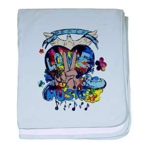 Blanket Sky Blue Peace Love Music   Peace Symbol Sign