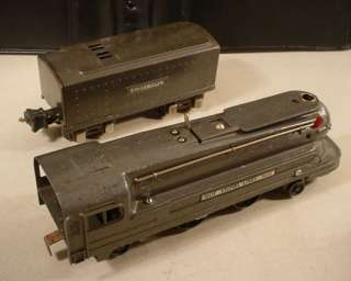 VINTAGE LIONEL LINES 1688E GUN METAL STEAM ENGINE & TENDER L@@K