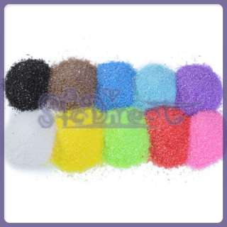 10 Bottles Colored Sand Art Craft Weddings Unity 50g |