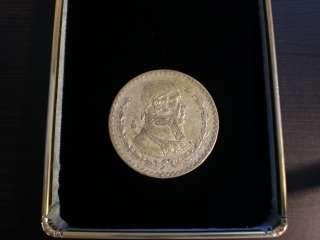 1959 UN PESO Large Mexican Coin 10% SILVER MORELOS