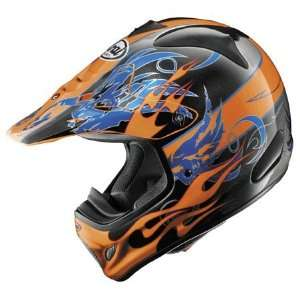 Arai VX Pro 3 Wing Flame Full Face Helmet Small  Orange