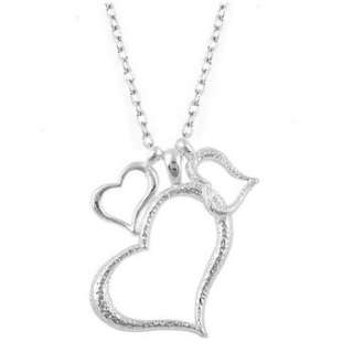 Brand Fashion Alloy Lovely Three Heart Design Necklace x22 great gift