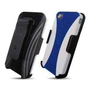 APPLE IPHONE 4 4S HYBRID CASE AND HOLSTER COMBO WITH SWIVEL KICKSTAND