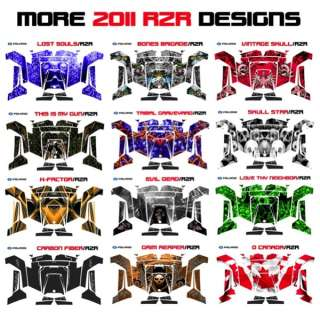 POLARIS RZR 170 2009 2013 THE GEARS OF DEATH GRAPHICS DECALS RED