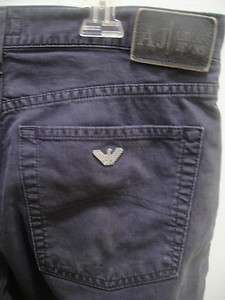 ARMANI JEANS DARK NAVY BLUE PANTS SIZE 33 BOOT CUT NICE CONDITION