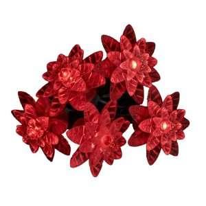 Kurt Adler 25 Light LED Red Petal Reflector Light Set