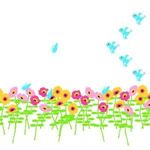 Wallcandy Arts Blossoms Flower Wall Art Stickers Baby