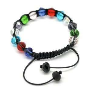 Divine Beads Stylish Multicolour Crystal Glass Beads Shamballa Style