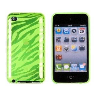 Zebra Striped Flexi TPU Case for Apple iPod Touch 4G (4th Generation