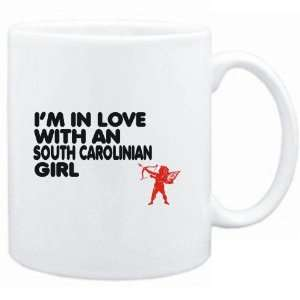 Mug White  I AM IN LOVE WITH A South Carolinian GIRL
