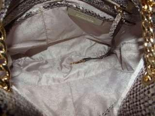MICHAEL Michael Kors Jet Set Medium Python Chain Shoulder Tote Bag