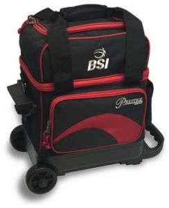 BSI Red/Black 1 Ball Roller Bowling Bag
