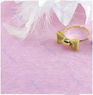 silver Brand Fashion Exquisite Alloy Lovely Bowknot Cute Rings w67