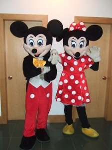 Mickey Minnie Couple Mascot Fancy Dress Adult Costume