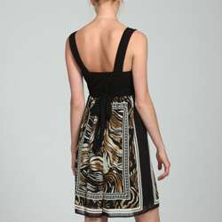 Connected Apparel Womens Animal Print Dress