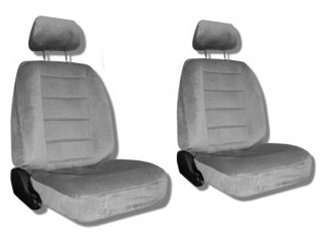 Grey Car Auto Truck Seat Covers w/ Head rest Covers