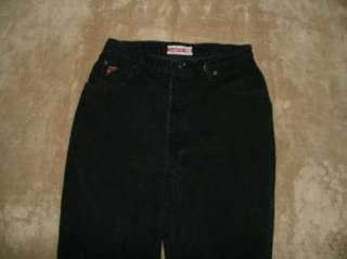 FADED GLORY 14 Short black WASHED High rise Classic taper leg jeans
