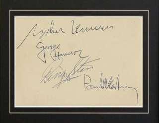 The Beatles John Lennon Paul Mcartney All 4 Autographs