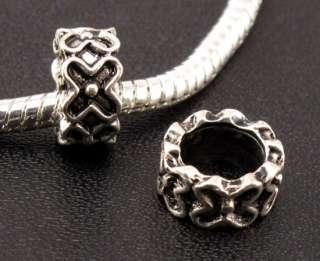 Tibetan Silver Charm Spacer Beads Fit European Bracelet ☆f730