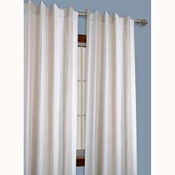 Striped Yarn Dyed Linen/ White 84 inch Window Curtain Pair