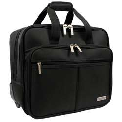 Geoffrey Beene Black Rolling Laptop Case