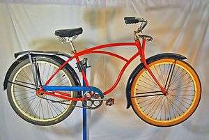 Arnold Schwinn Pullman bicycle fat tire balloon bike Springer fork