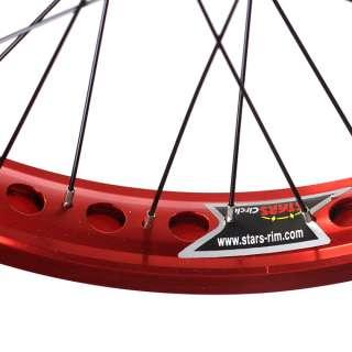 Bmx Bike Wheels/wheelset (Wide Rim) Red