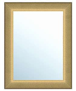 Grooved Gold Framed Wall Mirror