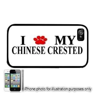 Chinese Crested Paw Love Dog Apple iPhone 4 4S Case Cover