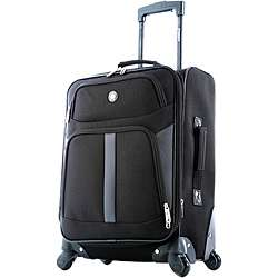 Olympia Malibu Bay 22 inch Black Expandable Spinner Carry on Luggage