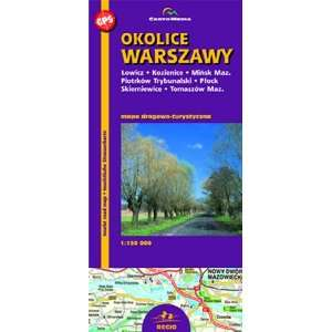 Warszawa & Surrounding Areas   Tourist Map (9788374452281