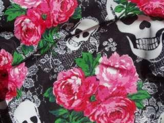 Betseyville Betsey Johnson Skulls Lace Tote Charm Black