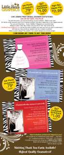 Chic Zebra Print Bridal Shower Invitations   UPRINT