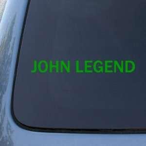 JOHN LEGEND   Vinyl Car Decal Sticker #A1618  Vinyl Color Green