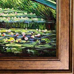 Claude Monet Japanese Bridge Framed Canvas Art