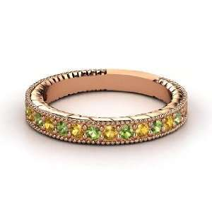 Victoria Band, 14K Rose Gold Ring with Green Tourmaline