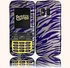 Purple & White Zebra Design Cover Case For Samsung Messager R450 R451C
