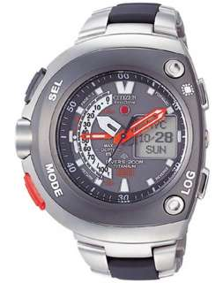CITIZEN PROMASTER ECO DRIVE 200m PRO DIVE DEPTH SENSOR JV0051 60E